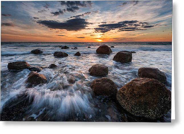 Falmouth Massachusetts Greeting Cards - Boulders to the Sun Greeting Card by Michael Blanchette