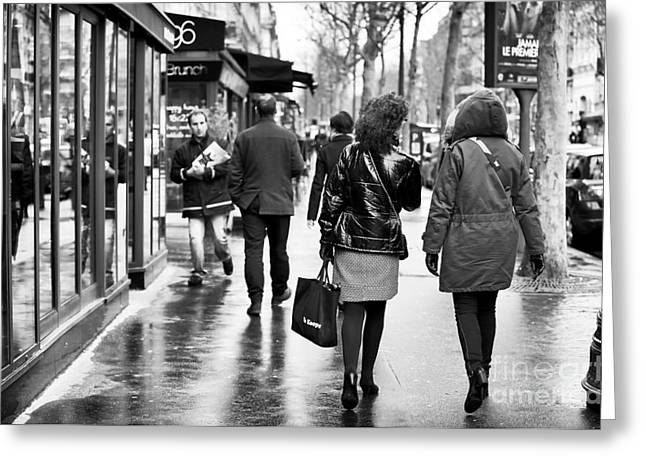 Fashion Photos For Sale Greeting Cards - Boulevard Saint-Germain Greeting Card by John Rizzuto