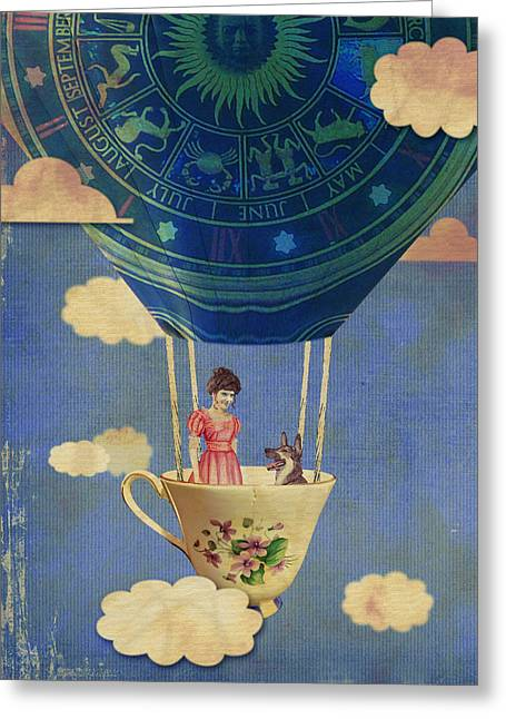 Tori Amos Greeting Cards - Bouncing Off Clouds Greeting Card by Jeff Clark