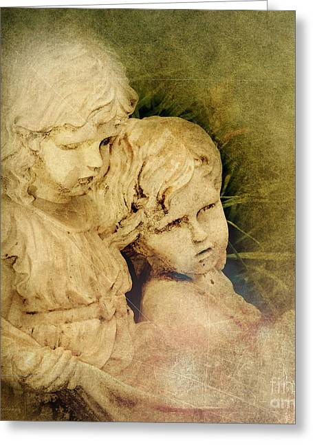 Survivor Art Greeting Cards - Michael and His Sister Greeting Card by MaryJane Armstrong