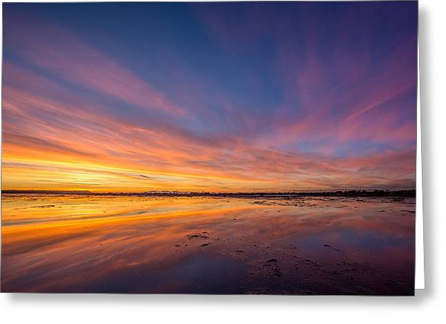 Boundary Waters Greeting Cards - Boundary Bay Sunset B.C Greeting Card by Pierre Leclerc Photography