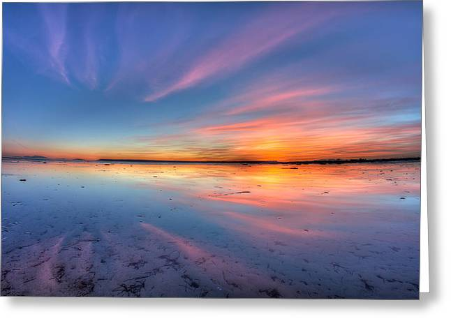 Boundary Waters Greeting Cards - Boundary Bay Sunset Greeting Card by Pierre Leclerc Photography