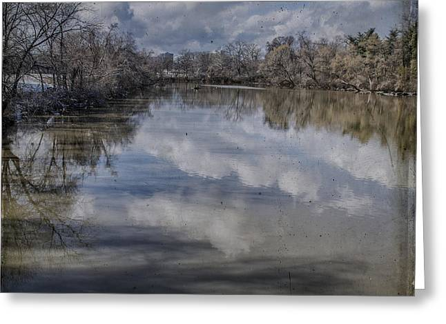 Boundary Channel Reflections Greeting Card by Terry Rowe