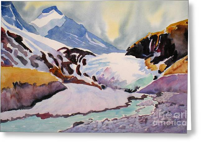 Boundary Glacier Banff And Jasper National Park Greeting Card by Mohamed Hirji
