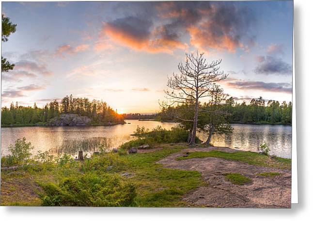 Boundary Waters Greeting Cards - Boundary Waters Camp Greeting Card by Christopher Broste