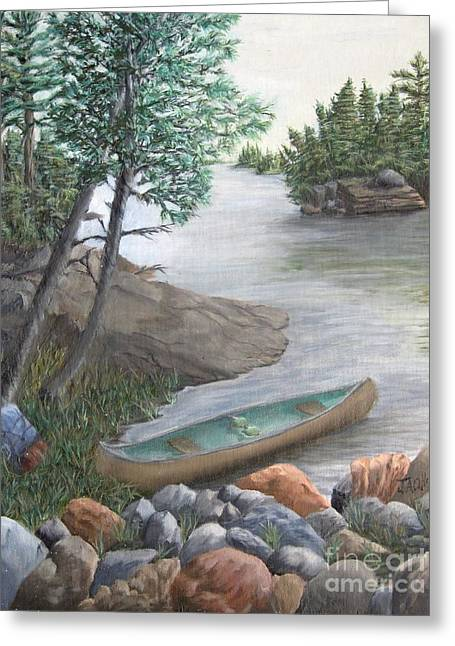 Boundary Waters Paintings Greeting Cards - Boundary Waters Canoe Area Greeting Card by J O Huppler