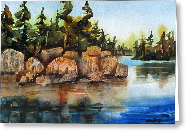 Boundary Waters Paintings Greeting Cards - Boundary Waters Greeting Card by Lisa Fertig