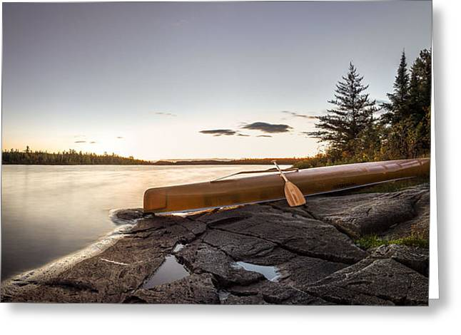 Tent Greeting Cards - Sunset // Boundary Waters Canoe Area, Minnesota  Greeting Card by Nicholas Parker