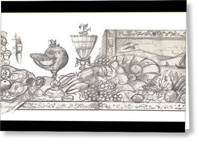 Johnkeaton Greeting Cards - Bounties of the Sea Greeting Card by John Keaton