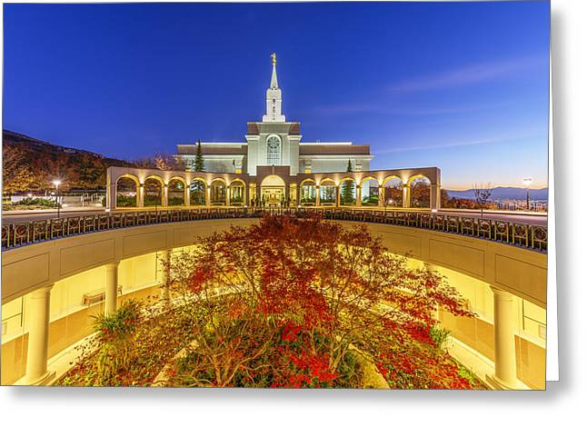 Lds Temples Greeting Cards - Bountiful Greeting Card by Dustin  LeFevre