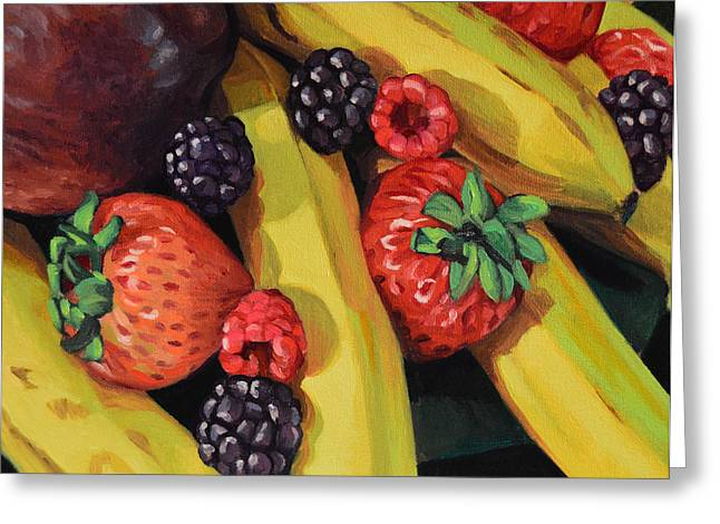Budget Paintings Greeting Cards - Bountiful Greeting Card by Kenneth Cobb