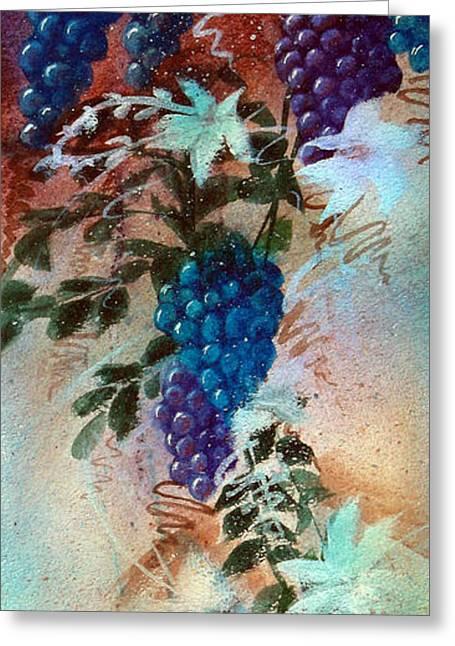 Zelma Hensel Greeting Cards - Bountiful Vines Greeting Card by Zelma Hensel