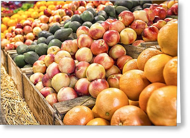 Farmstand Photographs Greeting Cards - Bounty Greeting Card by Caitlyn  Grasso