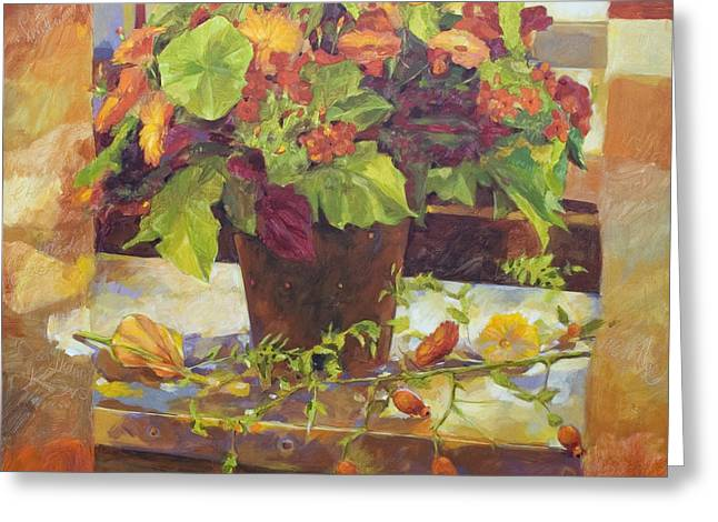 Kitchen Photos Paintings Greeting Cards - Bouquet Greeting Card by Anke Classen