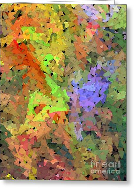 Abstract Digital Photographs Greeting Cards - Bouquet Greeting Card by Barbie Corbett-Newmin