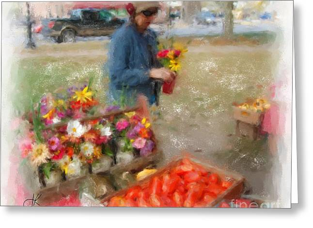 Brunswick Greeting Cards - Bouquet Browsing 1066 20141003 Greeting Card by Julie Knapp