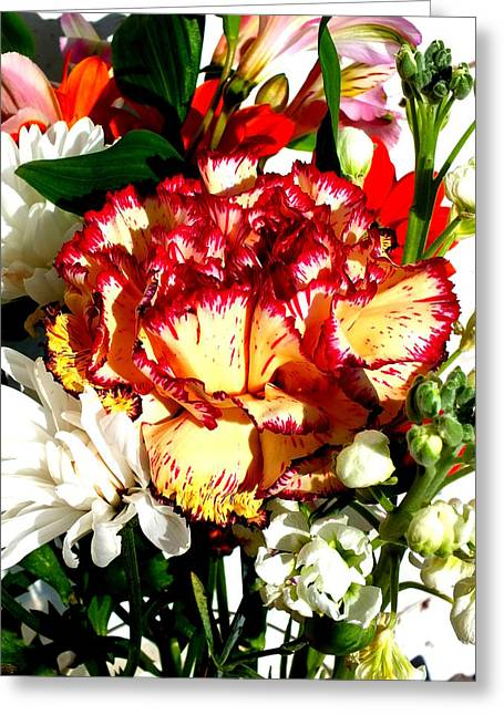 Weatherboard Greeting Cards - Bouquet Greeting Card by Guy Pettingell