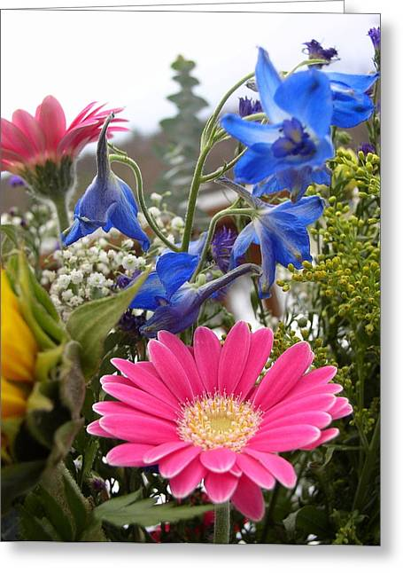 Bouquet Greeting Card by Natalie Rotman Cote