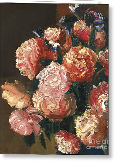 Strength Paintings Greeting Cards - Bouquet Of Flowers Greeting Card by Celestial Images