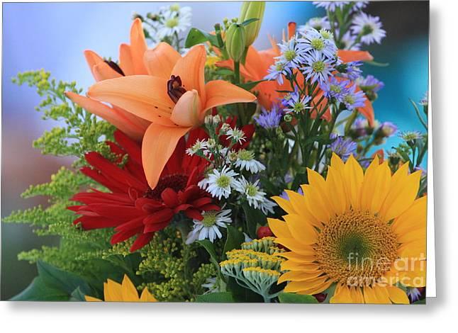 Geraldine Deboer Greeting Cards - Bouquet of flowers Greeting Card by Geraldine DeBoer