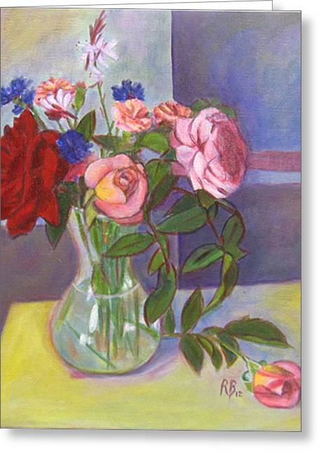 Robie Benve Greeting Cards - Bouquet of flowers Greeting Card by Robie Benve