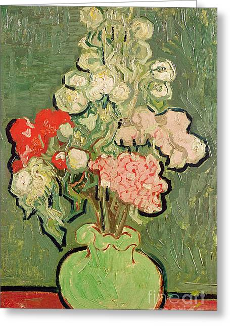 Sur Greeting Cards - Bouquet of Flowers Greeting Card by Vincent van Gogh