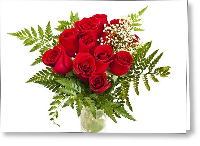 Colorful Roses Greeting Cards - Bouquet of red roses Greeting Card by Elena Elisseeva