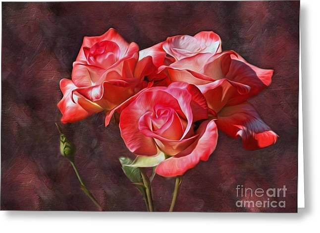 Gentle Petals Greeting Cards - Bouquet of Roses by Kaye Menner  Greeting Card by Kaye Menner