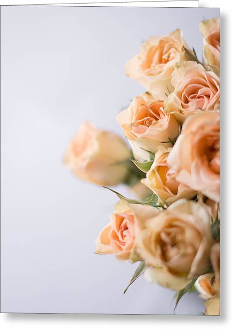 Indoor Still Life Greeting Cards - Bouquet of Roses Greeting Card by Shelby  Young