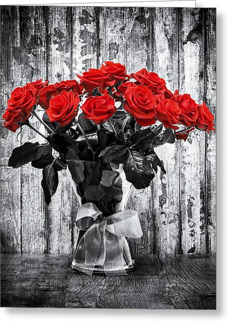 Decor Photography Greeting Cards - Bouquet of Roses Greeting Card by Wim Lanclus