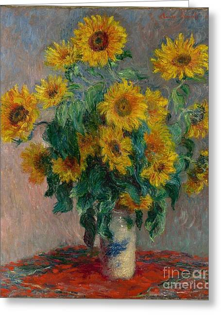 Bouquet Of Sunflowers Greeting Cards - Bouquet of Sunflowers Greeting Card by Celestial Images