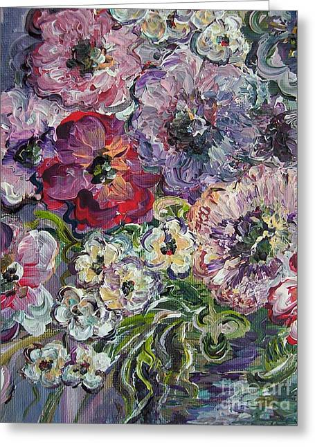 Abstract Flowers Greeting Cards - Bouquet of Sweetness Greeting Card by Eloise Schneider