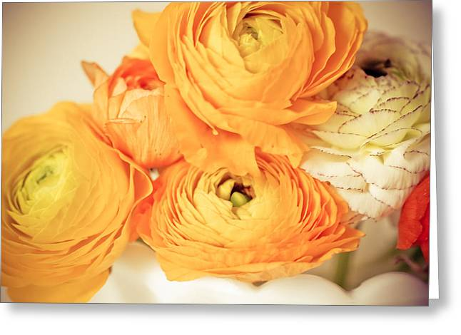 Joy Stclaire Greeting Cards - Bouquet of Yellow Greeting Card by Joy StClaire