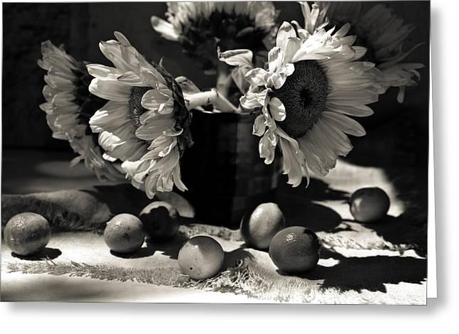 Lemon Art Greeting Cards - Bouquet sunflowers Greeting Card by Sviatlana Kandybovich