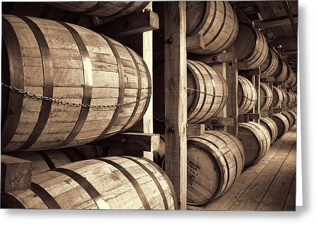 Owner Greeting Cards - Bourbon Barrels Greeting Card by Dan Sproul