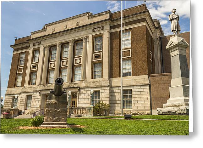Defendant Greeting Cards - Bourbon County Courthouse 4 Greeting Card by Ken Kobe