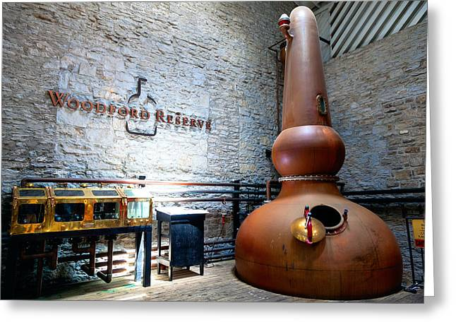 Distillery Greeting Cards - Bourbon distillery Greeting Card by Alexey Stiop