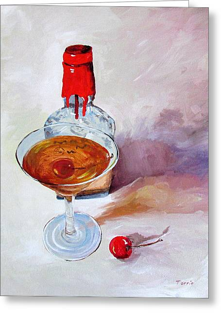 Bourbon Manhattan Greeting Card by Torrie Smiley