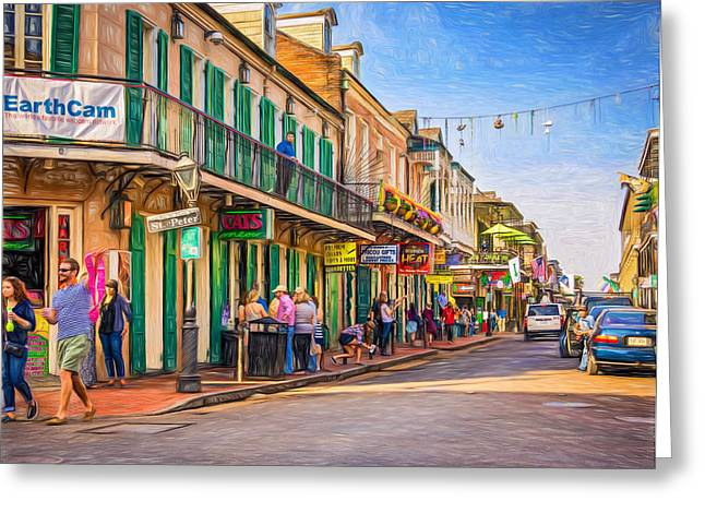 Bourbon Street Afternoon - Paint Greeting Card by Steve Harrington