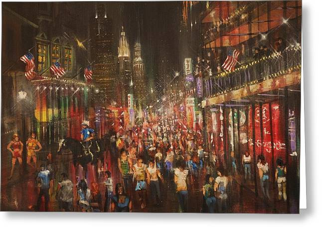 In-city Greeting Cards - Bourbon Street Baby Greeting Card by Tom Shropshire