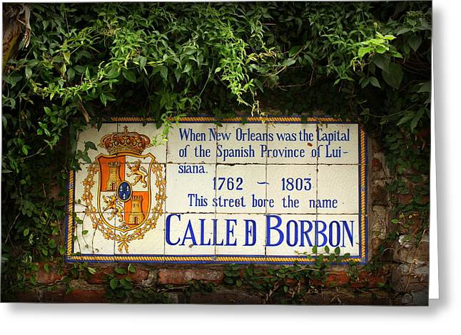 Calle D Borbon Greeting Cards - Bourbon Street Greeting Card by Beth Vincent