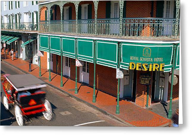 Quarter Horses Greeting Cards - Bourbon Street, French Quarter, New Greeting Card by Panoramic Images