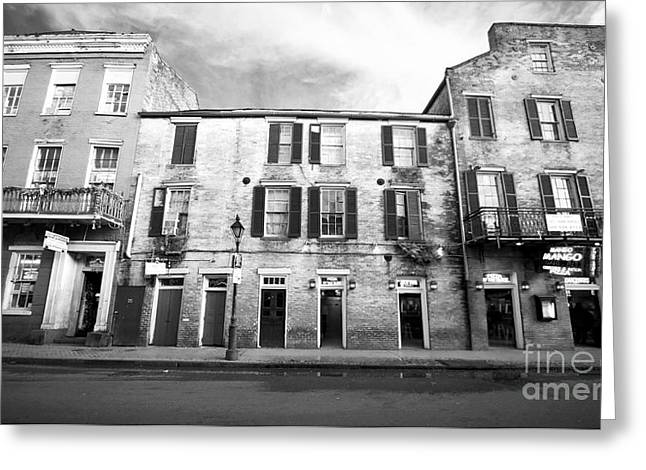 Wrapped Canvas Greeting Cards - Bourbon Street Greeting Card by John Rizzuto