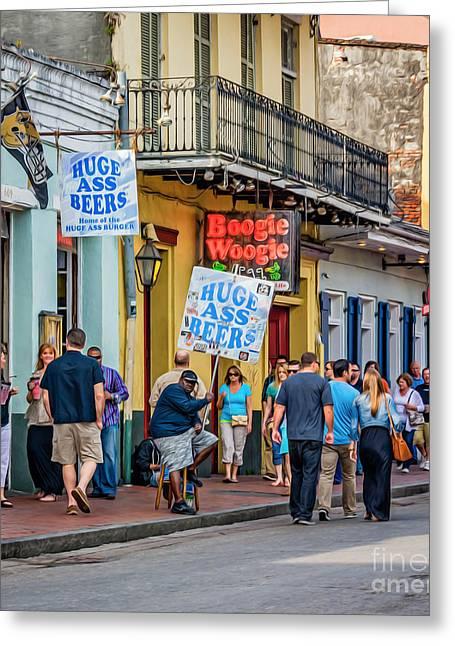 Bourbon Street - Let The Good Times Roll Greeting Card by Steve Harrington