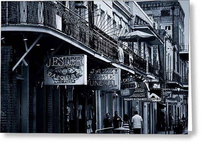 Souvenirs Greeting Cards - Bourbon Street New Orleans Greeting Card by Christine Till