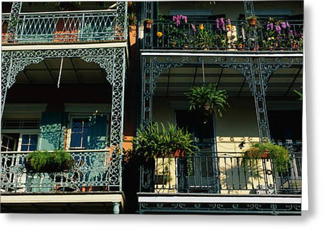 Ironwork Greeting Cards - Bourbon Street New Orleans La Greeting Card by Panoramic Images