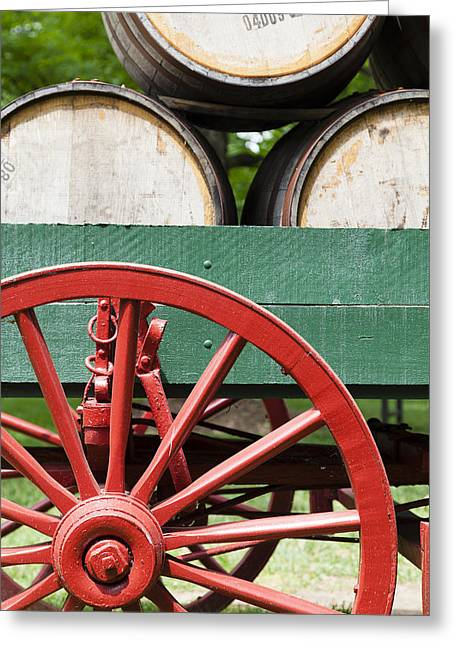 Wooden Wagons Greeting Cards - Bourbon wagon Greeting Card by Alexey Stiop