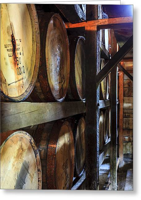 Recently Sold -  - Wooden Building Greeting Cards - Bourbon warehouse Greeting Card by Alexey Stiop