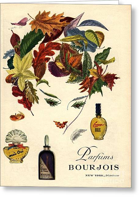 Twentieth Century Greeting Cards - Bourjois 1940s Usa Womens Greeting Card by The Advertising Archives