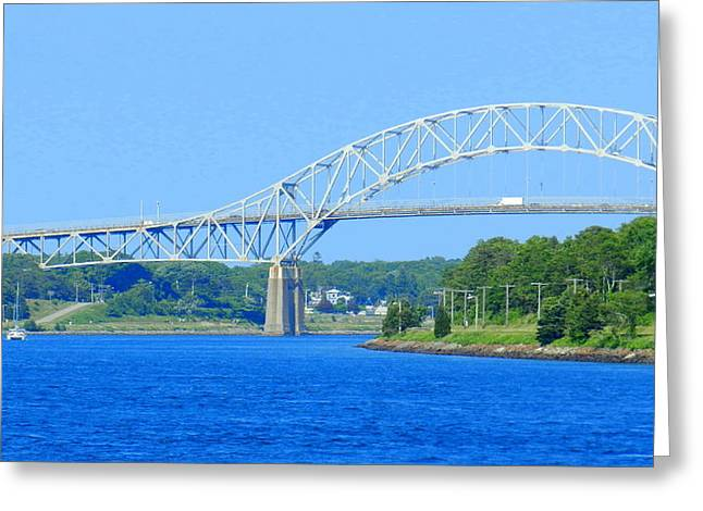 Cape Cod Tourism. Greeting Cards - Bourne Bridge - Cape Cod Greeting Card by Nomad Art And  Design